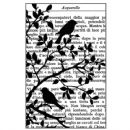 Stamperia - Natural Rubber Stamp Birds In Tree
